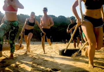 Outdoor fitness and weight loss training at unit 27 phuket